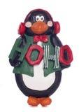 企鹅圣诞节装饰 图库摄影