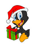 企鹅圣诞节 图库摄影