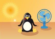 企鹅在夏天 库存照片