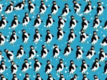 企鹅墙纸 向量例证