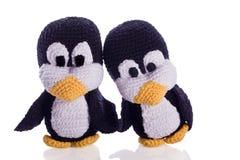 企鹅夫妇  免版税图库摄影