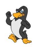 企鹅战斗 库存照片