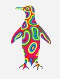 企鹅抽象颜色 免版税库存照片