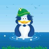 企鹅游泳 库存照片
