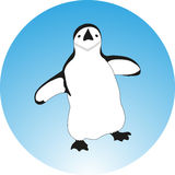 企鹅的剪影例证 免版税图库摄影