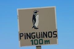 企鹅警告 免版税库存照片