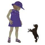 伊丽莎和斯塔福德郡小狗 免版税库存图片