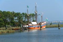 伊丽莎白二世帆船 库存照片