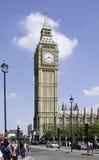 伊丽莎白塔'大本钟',伦敦 库存照片