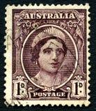 伊丽莎白太后澳大利亚邮票 库存图片