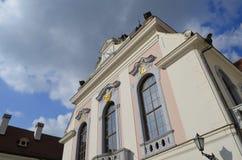 伊丽莎白宫殿门大厦在Gödöllö,匈牙利 图库摄影