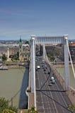伊丽莎白桥梁在布达佩斯匈牙利 免版税图库摄影