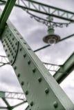 伊丽莎白桥梁细节在匈牙利和斯洛伐克之间的 库存照片