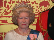 伊丽莎白ii女王/王后雕象蜡 免版税库存照片