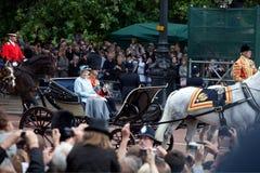 伊丽莎白ii菲利普王子女王/王后 库存照片