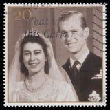 伊丽莎白ii菲利普王子女王/王后 免版税库存图片