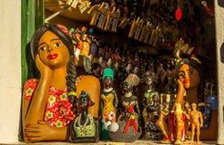 从巴伊亚,巴西的工艺品 库存照片