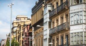 伊伦,西班牙典型的居民住房建筑学  图库摄影