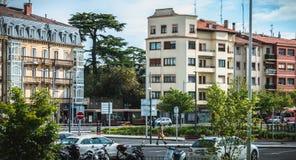 伊伦,西班牙典型的居民住房建筑学  库存图片