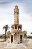 伊兹密尔历史尖沙咀钟楼  免版税库存图片