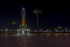 伊兹密尔夜视图 库存图片