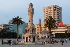 伊兹密尔尖沙咀钟楼,土耳其 免版税库存图片