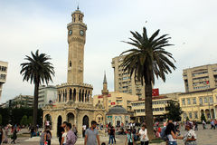 伊兹密尔尖沙咀钟楼,土耳其 免版税图库摄影