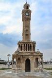 伊兹密尔手表塔在konak正方形的saat kulesi 库存图片