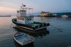 伊兹密尔,土耳其港  库存照片