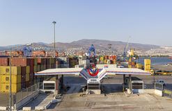 伊兹密尔,土耳其:在Alsancak的伊兹密尔口岸 库存图片