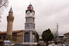 伊兹尼克在伊兹尼克广场的钟楼 免版税库存照片