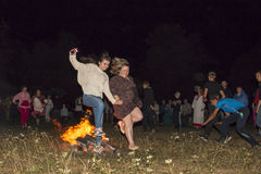 伊冯Kupala夜的庆祝  免版税库存照片