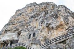 伊凡诺沃,保加利亚摇滚被砍成的教会  库存图片