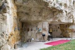 伊凡诺沃,保加利亚摇滚被砍成的教会  库存照片