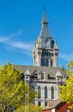 伊利县霍尔、一个历史的市政厅和法院大楼大厦在水牛城,纽约 库存图片