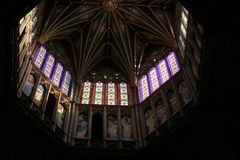 伊利大教堂八角形物塔  库存图片