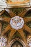 伊利大教堂八角形物屋顶  免版税库存照片