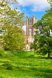 伊利大教堂在晴朗的春日 免版税图库摄影
