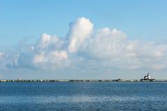 伊利湖Cloudscape 免版税库存图片