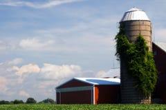 伊利诺伊农厂房子 库存照片