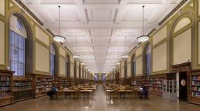 伊利诺伊大学的中央图书馆 免版税库存照片