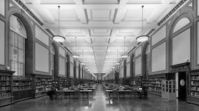 伊利诺伊大学的中央图书馆 库存图片