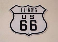 伊利诺伊美国66将罗杰斯高速公路 免版税库存照片