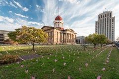 伊利诺伊老状态国会大厦 图库摄影