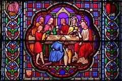 伊利,英国- 2017年5月26日:大教堂的内部- 19世纪污迹玻璃窗威廉Wailes,雅各布和Rachael, 18 免版税库存图片