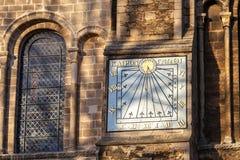 伊利, CAMBRIDGESHIRE/UK - 11月23日:在伊利大教堂的日规 免版税图库摄影