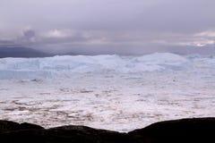 伊卢利萨特Icefjord格陵兰 库存照片