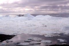 伊卢利萨特Icefjord格陵兰 库存图片