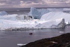 伊卢利萨特Icefjord格陵兰 免版税库存照片