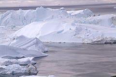 伊卢利萨特Icefjord格陵兰 免版税库存图片